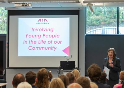 Lesley Macphee, Regneration Manager at Ardenglen HA, gave delegates lots of food for thought.
